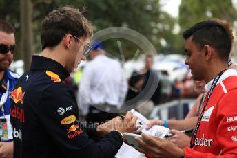World © Octane Photographic Ltd. Formula 1 – Australian GP Melbourne Walk. Aston Martin Red Bull Racing RB15 – Pierre Gasly. Friday 15th Melbourne, Australia. Friday 15th March 2019.