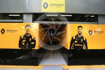 World © Octane Photographic Ltd. Formula 1 – Australian GP Pitlane. Renault Sport F1 Team garage entrance– Daniel Ricciardo. Friday 15th Melbourne, Australia. Friday 15th March 2019.