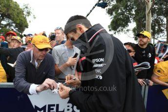 World © Octane Photographic Ltd. Formula 1 – Australian GP Melbourne Walk. Mercedes AMG Petronas Motorsport reserve driver - Esteban Ocon. Friday 15th Melbourne, Australia. Friday 15th March 2019.