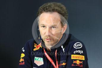 World © Octane Photographic Ltd. Formula 1 - Australian GP – Friday FIA Team Press Conference. Christian Horner - Team Principal of Red Bull Racing. Albert Park, Melbourne, Australia. Friday 15th March 2019