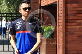 World © Octane Photographic Ltd. Formula 1 – Australian GP Paddock. Scuderia Toro Rosso STR14 – Alexander Albon. Saturday 16th Melbourne, Australia. Saturday 16th March 2019.