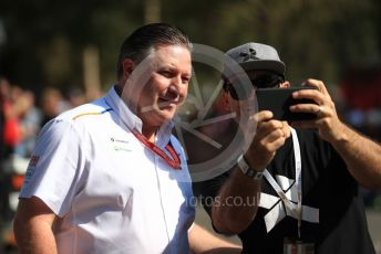 World © Octane Photographic Ltd. Formula 1 - Australian GP - Paddock. Zak Brown - Executive Director of McLaren Technology Group.  Albert Park, Melbourne, Australia. Sunday 17th March 2019