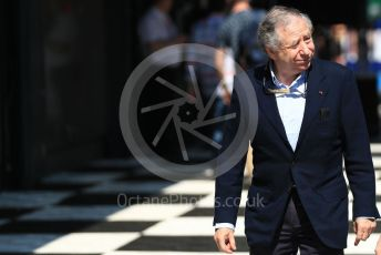 World © Octane Photographic Ltd. Formula 1 - Australian GP - Paddock. Jean Todt – President of FIA. Albert Park, Melbourne, Australia. Sunday 17th March 2019