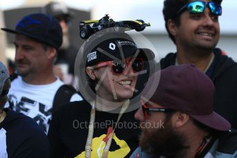 World © Octane Photographic Ltd. Formula 1 – Australian GP. Renault Sport F1 Team fan. Thursday 14th Melbourne, Australia. Thursday 14th March 2019.