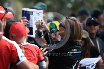 World © Octane Photographic Ltd. Formula 1 - Australian GP - Wednesday. Claire Williams - Deputy Team Principal of ROKiT Williams Racing. Albert Park, Melbourne, Australia. Thursday 14th March 2019