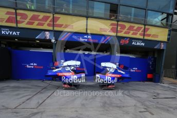 World © Octane Photographic Ltd. Formula 1 – Australian GP. Scuderia Toro Rosso STR14 – Daniil Kvyat and Alexander Albon. Albert Park, Melbourne, Australia. Wednesday 13th March 2019.