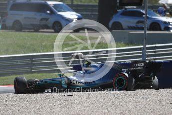World © Octane Photographic Ltd. Formula 1 – Austrian GP - Practice 2. Mercedes AMG Petronas Motorsport AMG F1 W10 EQ Power+ - Valtteri Bottas crashes at Turn 6. Red Bull Ring, Spielberg, Styria, Austria. Friday 28th June 2019.