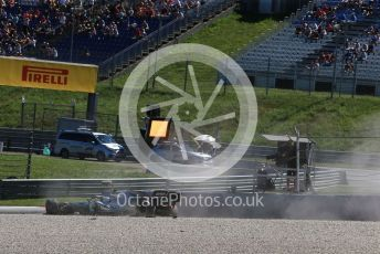 World © Octane Photographic Ltd. Formula 1 – Austrian GP - Practice 2. Mercedes AMG Petronas Motorsport AMG F1 W10 EQ Power+ - Valtteri Bottas crashes at Turn 6. Red Bull Ring, Spielberg, Styria, Austria. Friday 28th June 2019.