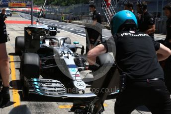 World © Octane Photographic Ltd. Formula 1 – Austrian GP - Practice 3. Mercedes AMG Petronas Motorsport AMG F1 W10 EQ Power+ - Lewis Hamilton. Red Bull Ring, Spielberg, Styria, Austria. Saturday 29th June 2019.