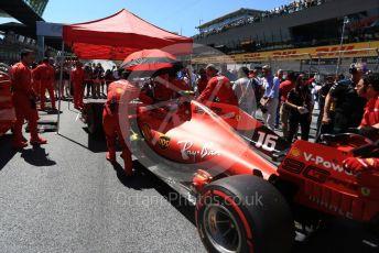 World © Octane Photographic Ltd. Formula 1 – Austrian GP - Grid. Scuderia Ferrari SF90 – Charles Leclerc. Red Bull Ring, Spielberg, Styria, Austria. Sunday 30th June 2019