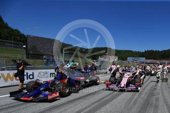 World © Octane Photographic Ltd. Formula 1 – Austrian GP - Grid. Scuderia Toro Rosso STR14 – Daniil Kvyat. Red Bull Ring, Spielberg, Styria, Austria. Sunday 30th June 2019