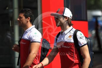 World © Octane Photographic Ltd. Formula 1 – Austrian GP - Paddock. Alfa Romeo Racing C38 – Antonio Giovinazzi. Red Bull Ring, Spielberg, Styria, Austria. Thursday 27th June 2019.
