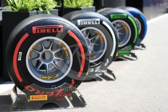 World © Octane Photographic Ltd. Formula 1 – Austrian GP - Paddock. Pirelli tyre selection. Red Bull Ring, Spielberg, Styria, Austria. Thursday 27th June 2019.