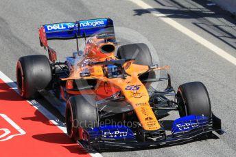 World © Octane Photographic Ltd. Formula 1 – Winter Testing - Test 1 - Day 1. McLaren MCL34 – Carlos Sainz. Circuit de Barcelona-Catalunya. Monday 18th February 2019.