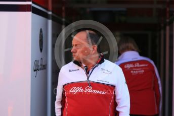 World © Octane Photographic Ltd. Formula 1 - Winter Testing - Test 1 - Day 1. Frederic Vasseur – Team Principal and CEO of Sauber Motorsport AG. Circuit de Barcelona-Catalunya. Monday 18th February 2019