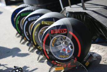 World © Octane Photographic Ltd. Formula 1 – Winter Testing - Test 1 - Day 1. Set of Pirelli tyres. Circuit de Barcelona-Catalunya. Monday 18th February 2019.