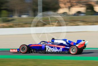 World © Octane Photographic Ltd. Formula 1 – Winter Testing - Test 1 - Day 1. Scuderia Toro Rosso STR14 – Daniil Kvyat. Circuit de Barcelona-Catalunya. Monday 18th February 2019.