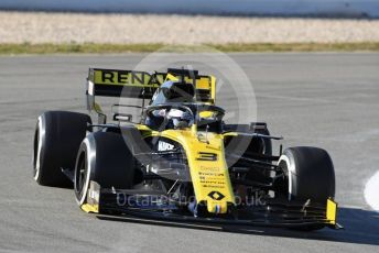 World © Octane Photographic Ltd. Formula 1 – Winter Testing - Test 1 - Day 1. Renault Sport F1 Team RS1 – Daniel Ricciardo. Circuit de Barcelona-Catalunya. Monday 18th February 2019.