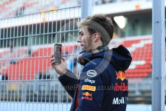 World © Octane Photographic Ltd. Formula 1 – Winter Testing - Test 1 - Day 1. Aston Martin Red Bull Racing – Pierre Gasly. Circuit de Barcelona-Catalunya. Monday 18th February 2019.