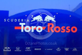 World © Octane Photographic Ltd. Formula 1 – Winter Testing - Test 1 - Day 1. Toro Rosso logo. Circuit de Barcelona-Catalunya. Monday 18th February 2019.