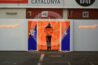 World © Octane Photographic Ltd. Formula 1 – Winter Testing - Test 1 - Day 1. McLaren garage entrance. Circuit de Barcelona-Catalunya. Monday 18th February 2019.