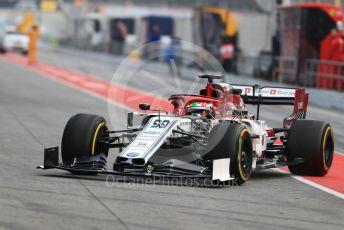 World © Octane Photographic Ltd. Formula 1 – Winter Testing - Test 1 - Day 2. Alfa RomeoRacing C38 – Antonio Giovinazzi. Circuit de Barcelona-Catalunya. Tuesday 19th February 2019.