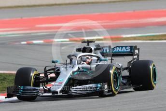 World © Octane Photographic Ltd. Formula 1 – Winter Testing - Test 1 - Day 2. Mercedes AMG Petronas Motorsport AMG F1 W10 EQ Power+ - Lewis Hamilton. Circuit de Barcelona-Catalunya. Tuesday 19th February 2019