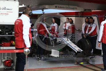 World © Octane Photographic Ltd. Formula 1 – Winter Testing - Test 1 - Day 2. Alfa Romeo Racing C38 – Antonio Giovinazzi. Circuit de Barcelona-Catalunya. Tuesday 19th February 2019.