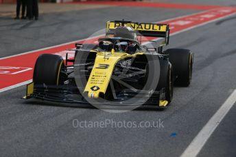 World © Octane Photographic Ltd. Formula 1 – Winter Testing - Test 1 - Day 2. Renault Sport F1 Team RS19 – Daniel Ricciardo. Circuit de Barcelona-Catalunya. Tuesday 19th February 2019.