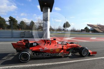 World © Octane Photographic Ltd. Formula 1 – Winter Testing - Test 1 - Day 2. Scuderia Ferrari SF90 – Charles Leclerc. Circuit de Barcelona-Catalunya. Tuesday 19th February 2019.