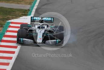 World © Octane Photographic Ltd. Formula 1 – Winter Testing - Test 1 - Day 3. Mercedes AMG Petronas Motorsport AMG F1 W10 EQ Power+ - Valtteri Bottas. Circuit de Barcelona-Catalunya. Wednesday 20th February 2019.