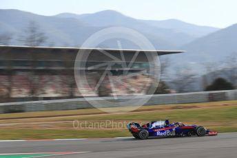 World © Octane Photographic Ltd. Formula 1 – Winter Testing - Test 2 - Day 1. Scuderia Toro Rosso STR14 – Alexander Albon. Circuit de Barcelona-Catalunya. Tuesday 26th February 2019.