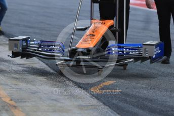 World © Octane Photographic Ltd. Formula 1 – Winter Testing - Test 2 - Day 2. McLaren MCL34 front wing. Circuit de Barcelona-Catalunya. Wednesday 27th February 2019.