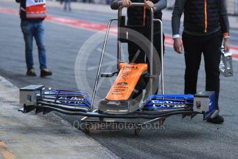 World © Octane Photographic Ltd. Formula 1 – Winter Testing - Test 2 - Day 2. McLaren MCL34 front wing. Circuit de Barcelona-Catalunya. Wednesday 27th February 2019.