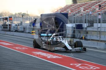 World © Octane Photographic Ltd. Formula 1 – Winter Testing - Test 2 - Day 3. Mercedes AMG Petronas Motorsport AMG F1 W10 EQ Power+ - Lewis Hamilton. Circuit de Barcelona-Catalunya. Thursday 28th February 2019.