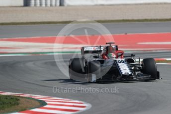 World © Octane Photographic Ltd. Formula 1 – Winter Testing - Test 2 - Day 3. Alfa Romeo Racing C38 – Antonio Giovinazzi. Circuit de Barcelona-Catalunya. Thursday 28th February 2019.