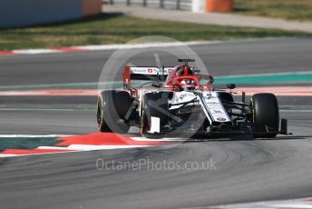 World © Octane Photographic Ltd. Formula 1 – Winter Testing - Test 2 - Day 4. Alfa Romeo Racing C38 – Kimi Raikkonen. Circuit de Barcelona-Catalunya. Friday 1st March 2019.