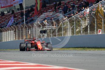 World © Octane Photographic Ltd. Formula 1 – Winter Testing - Test 2 - Day 4. Scuderia Ferrari SF90 – Sebastian Vettel. Circuit de Barcelona-Catalunya. Friday 1st March 2019.