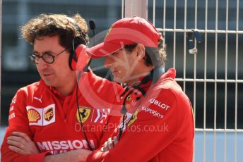 World © Octane Photographic Ltd. Formula 1 - Winter Testing - Test 2 - Day 3. Mattia Binotto – Team Principal of Scuderia Ferrari and John Elkann – CEO of Exor. Circuit de Barcelona-Catalunya. Friday 1st March 2019