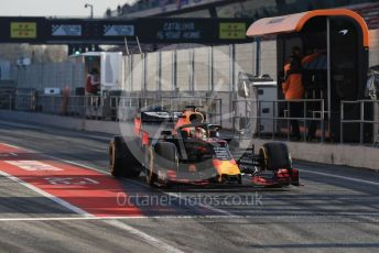 World © Octane Photographic Ltd. Formula 1 – Winter Testing - Test 2 - Day 4. Aston Martin Red Bull Racing RB15 – Max Verstappen. Circuit de Barcelona-Catalunya. Friday 1st March 2019.