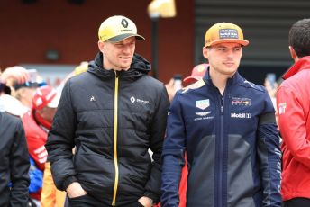 World © Octane Photographic Ltd. Formula 1 – Belgium GP - Drivers Parade. Renault Sport F1 Team RS19 – Nico Hulkenberg and Aston Martin Red Bull Racing RB15 – Max Verstappen. Circuit de Spa Francorchamps, Belgium. Sunday 1st September 2019.
