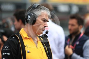 World © Octane Photographic Ltd. Formula 1 - Belgium GP - Grid. Nick Chester – Chassis Technical Director at Renault Sport Formula 1 Team. Circuit de Spa Francorchamps, Belgium. Sunday 1st September 2019.
