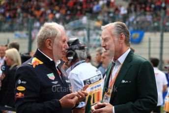 World © Octane Photographic Ltd. Formula 1 - Belgium GP - Grid. Helmut Marko - advisor to the Red Bull GmbH Formula One Teams and head of Red Bull's driver development program and Sean Bratches - Managing Director, Commercial Operations of Liberty Media.  Circuit de Spa Francorchamps, Belgium. Sunday 1st September 2019.