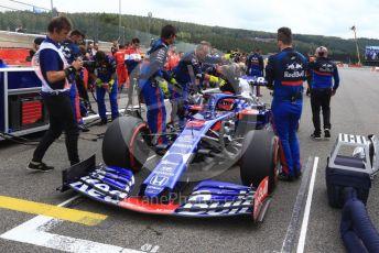 World © Octane Photographic Ltd. Formula 1 – Belgium GP - Grid. Scuderia Toro Rosso STR14 – Daniil Kvyat. Circuit de Spa Francorchamps, Belgium. Sunday 1st September 2019.