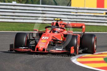 World © Octane Photographic Ltd. Formula 1 – Belgium GP - Practice 1. Scuderia Ferrari SF90 – Charles Leclerc. Circuit de Spa Francorchamps, Belgium. Friday 30th August 2019.