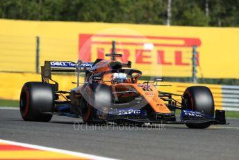 World © Octane Photographic Ltd. Formula 1 – Belgium GP - Practice 1. McLaren MCL34 – Carlos Sainz. Circuit de Spa Francorchamps, Belgium. Friday 30th August 2019.