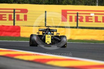 World © Octane Photographic Ltd. Formula 1 – Belgium GP - Practice 1. Renault Sport F1 Team RS19 – Daniel Ricciardo. Circuit de Spa Francorchamps, Belgium. Friday 30th August 2019.