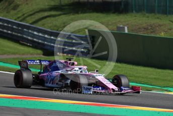 World © Octane Photographic Ltd. Formula 1 – Belgium GP - Practice 2. SportPesa Racing Point RP19 - Sergio Perez. Circuit de Spa Francorchamps, Belgium. Friday 30th August 2019.