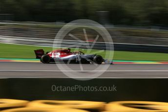 World © Octane Photographic Ltd. Formula 1 – Belgium GP - Practice 2. Alfa Romeo Racing C38 – Antonio Giovinazzi. Circuit de Spa Francorchamps, Belgium. Friday 30th August 2019.