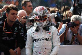World © Octane Photographic Ltd. Formula 1 – Belgium GP - Race Podium. Mercedes AMG Petronas Motorsport AMG F1 W10 EQ Power+ - Lewis Hamilton. Circuit de Spa Francorchamps, Belgium. Sunday 1st September 2019.